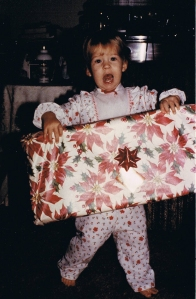 The present was as big as me!  And no one remembers what the gift was!